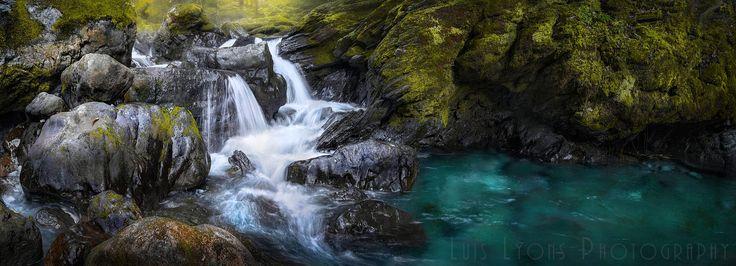 Turquoise Riverflow, Sierra Negra de Oaxaca, México.