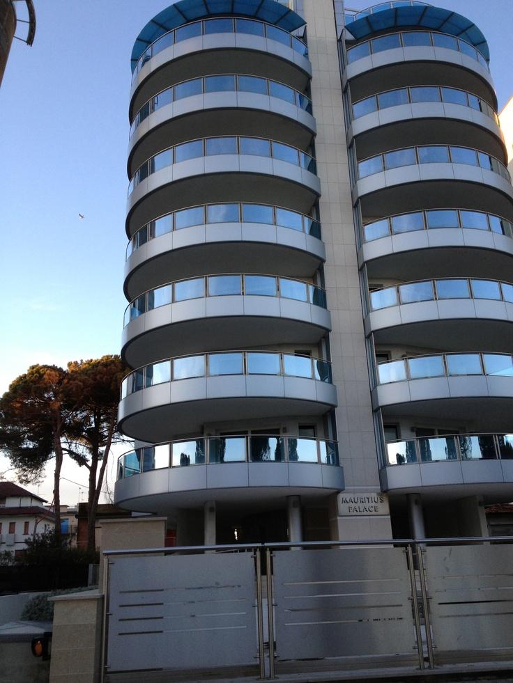 beach building in Lignano Sabbiadoro-Italy-