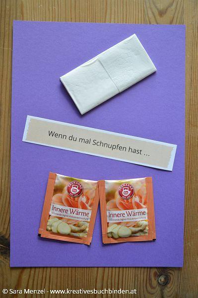 Inspirationen für dein Wenn-Buch in lila. Wenn du mal Schnupfen hast ...
