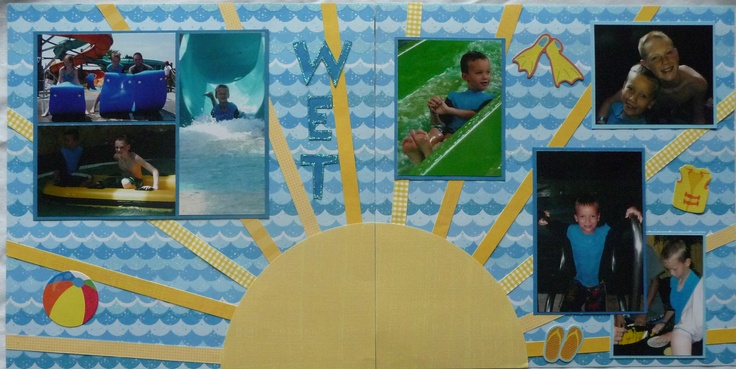 water park/ swimming/ pool scrapbook page