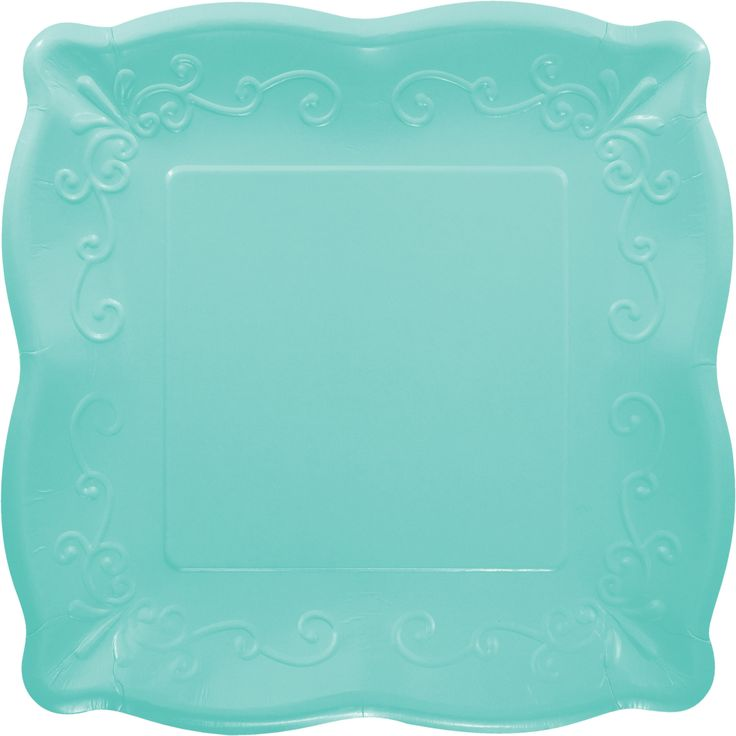 "Elise Teal 10"" Paper Square Plate/Case of 48 Tags: Teal; Dinner Plate; Elise; elise party dinner plate;Teal Dinner Plate; https://www.ktsupply.com/products/32786352442/Elise-Teal-10doublequote-Paper-Square-PlateCase-of-48.html"