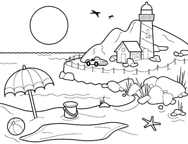 Risultati Immagini Per Drawing Children Line Art Landscape Strand Malvorlagen Lustige Malvorlagen Kinderfarben