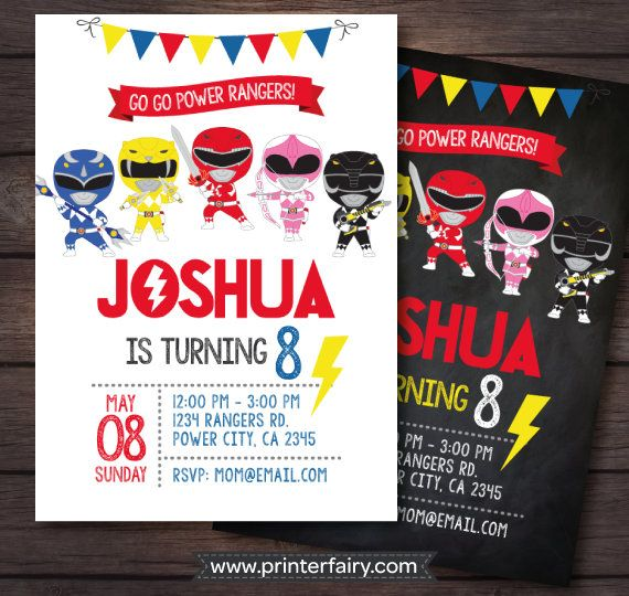 Best 25 Power ranger party ideas – Power Ranger Party Invitations