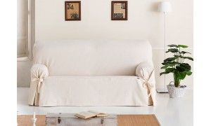 Fundas de sofas con lazos - universal baratas online - Sofas de Yecla