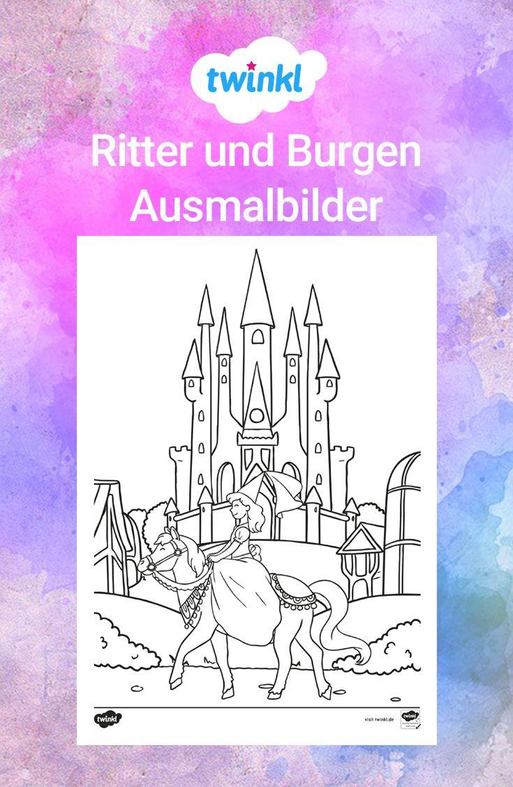 Tolle Ausmalbilder Zum Thema Ritter Und Burgen Dieses Material Enthalt Insgesamt Neun Unterschiedliche Vorlagen Grundschulm Ausmalen Ritterburg Ausmalbilder