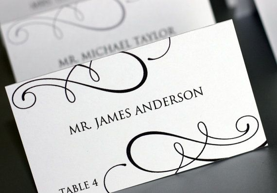Editable Placecard Template  Printable DIY by HeSawSparks on Etsy, $15.00
