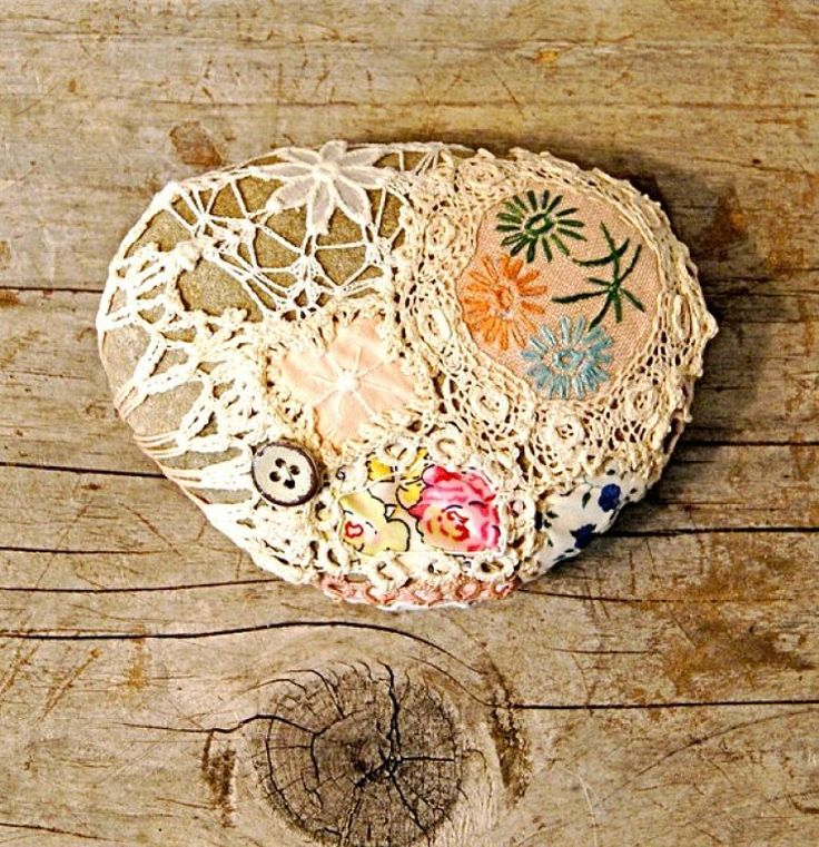 Piedras decoradas con crochet.   Aprender manualidades es facilisimo.com