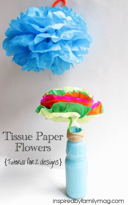 How To Make Tissue Paper Flowers - Perfect for Hispanic Heritage or Cinco de Mayo craft or party décor.
