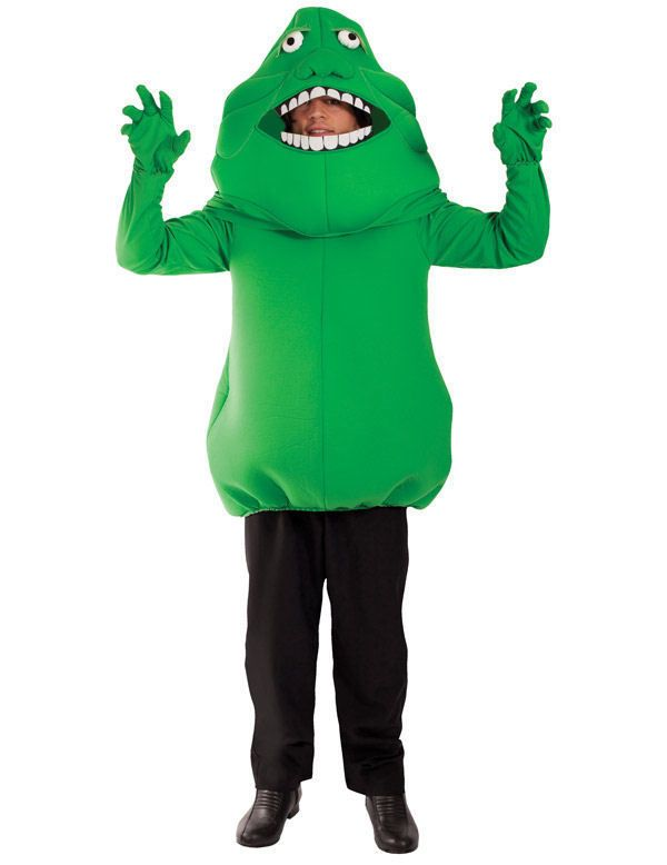 Deluxe Slimer Green Ghost Ghostbusters Movie Fancy Dress Costume Outfit