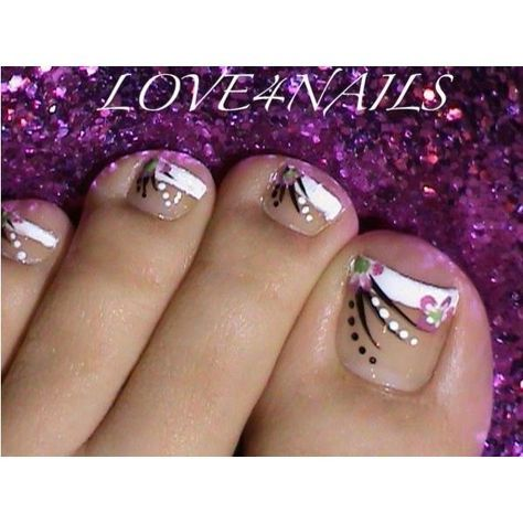 French Manicure Toe Nail Art Design Nail Art Gallery ❤ liked on Polyvore featuring nails and nails 2