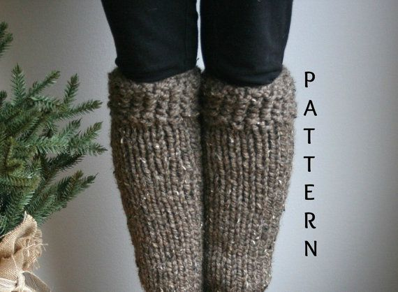 Knitting PATTERN/Leg Warmers/The Polar Boot Warmers by grizzlie, $4.00
