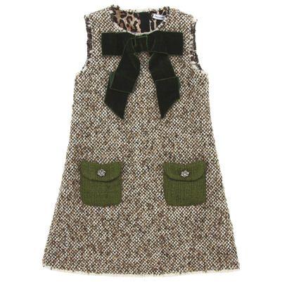Dolce & Gabbana - Mottled brown woollen dress