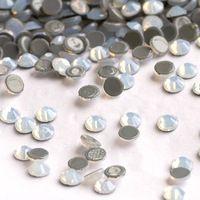 YANRUO SS20 1440 pz White Opal Cristallo Hotfix Pietre di Vetro Ferro Su Strass Hot fix Strass Calore Vestiti Cristal
