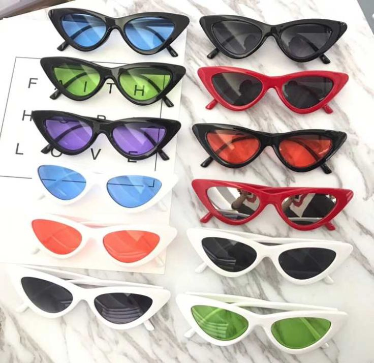 8d3cebde17 90S Cat Eye Triangle Long Sunglasses in 2019