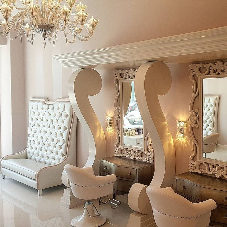 #glam #beverlyhills #salon #design #interiordesign #interiorstyling #glamour #charlesneal