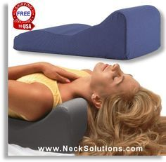 This Neck Support Pillow was designed to help restore the normal curve of the neck, that everyday activities such as typing on a keyboard, reading, not sitting up straight and sleeping can effect.