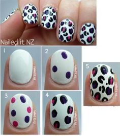 Really pretty nail art super easy you need a sharp point for the black try it :)