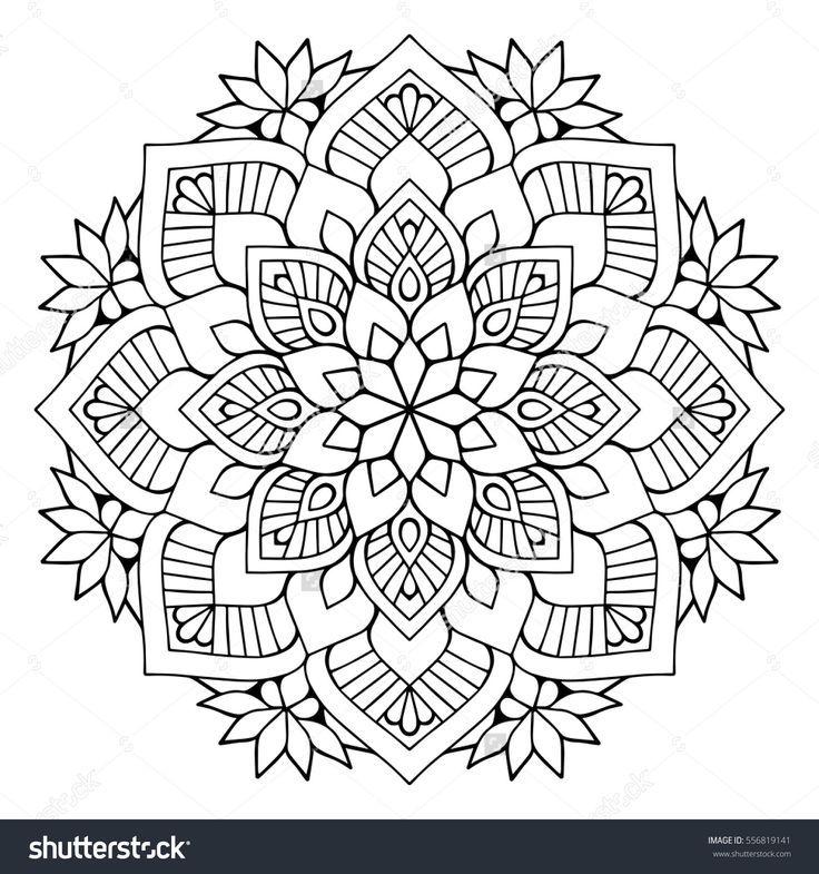 Blumen Mandalas Vintage Dekorative Elemente Orientalisches Muster Vektorillustrat Mandalas Blumenma In 2020 Mandala Malvorlagen Mandala Ausmalen Mandalas
