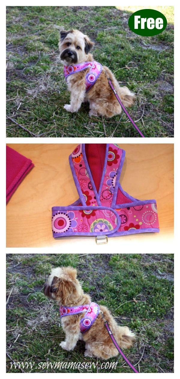 Kimono Dog Harness Free Sewing Pattern Dog Harness Pattern