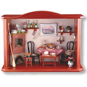 "Large Restaurant Shadowbox. Item Dimensions 12"" L x 4"" W x 9"" H. Item sold complete as shown! Accessories are permanently affixed to furniture piece. If out of stock, this is a factory special order i"