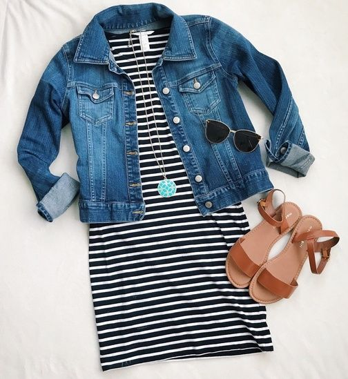 Stripes with denim