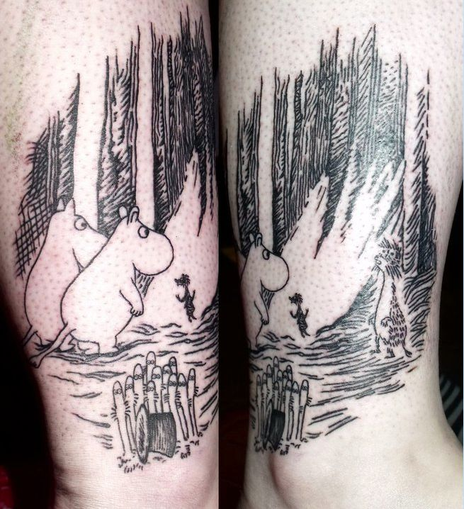 Moomin tattoos