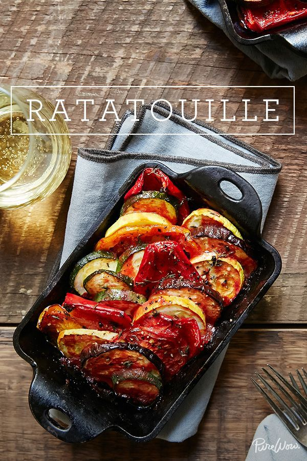 it's tomato season and the perfect time to make Ratatouille. This absolutely delicious roasted dish is full tomatoes and layers of other in-season favorites like summer squash, bell peppers and zucchini. It's healthy yet hearty, comes together in less than an hour and is impressive to serve.