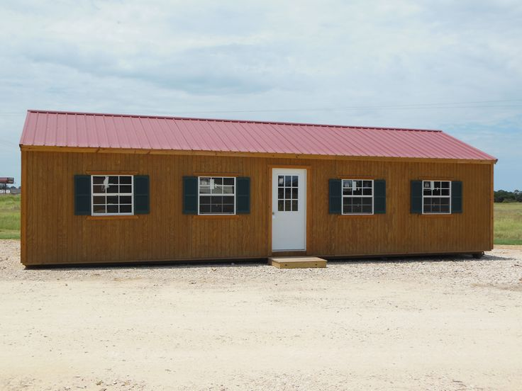 25 best derksen portable buildings waynesville missouri for Metal building cabin