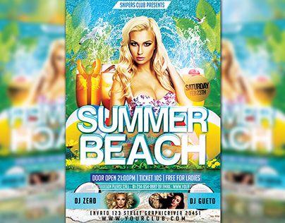 "Check out new work on my @Behance portfolio: ""Summer Beach"" http://be.net/gallery/34643777/Summer-Beach"