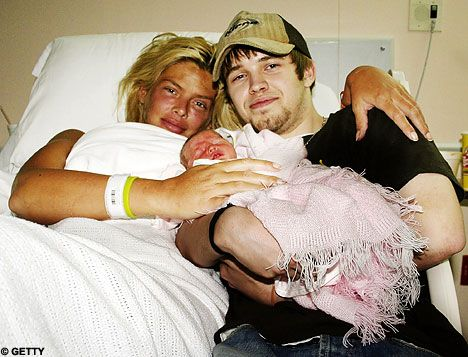 Tragic: Anna Nicole Smith, here in 2006 with baby Dannielynn and her late son Daniel following the birth. A court has ruled that the baby will inherit her millions Smith's son, Daniel, died only three days after Dannielynn's birth. He was 20. Daniel had been Anna Nicole Smith's heir according to a will that was written well before his death, but the actress/model never changed the will