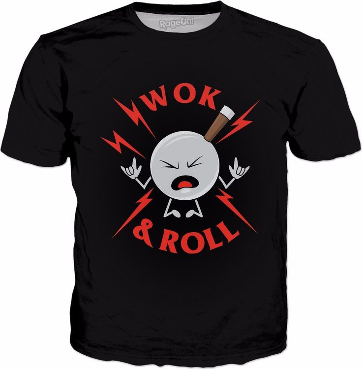 Wok And Roll T-Shirt - Funny Wok Cooking Asian Chef