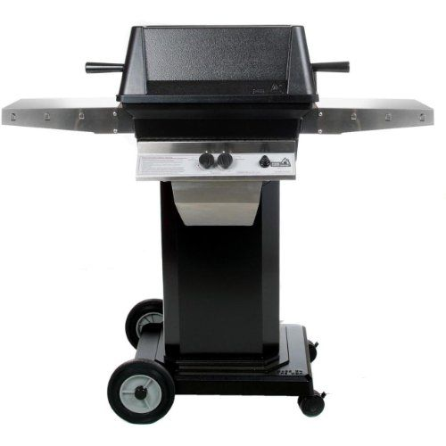 Pgs A40 Cast Aluminum Propane Gas Grill On Black Portable Pedestal Base | Grills