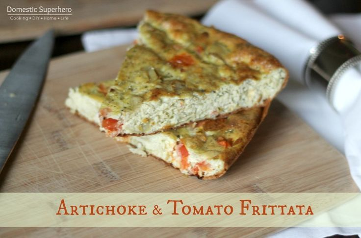 Artichoke and tomato frittata | Recipes | Pinterest