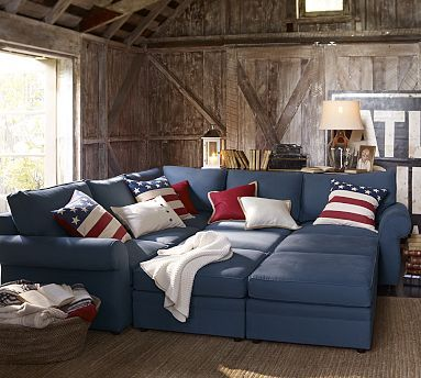 Shop For Pearce Upholstered Family Sectional By Pottery Barn At ShopStyle