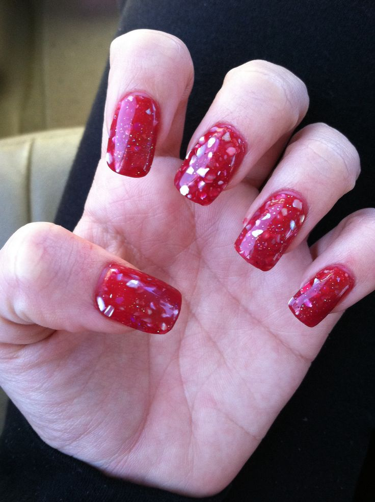 11 Best Images About Long Red Classic Nails On Pinterest