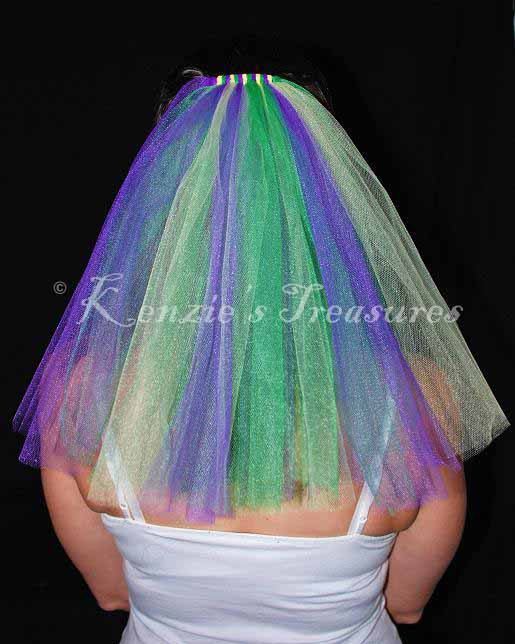Mardi Gras Wedding or Bachelorette Party Veil on Etsy, $14.00
