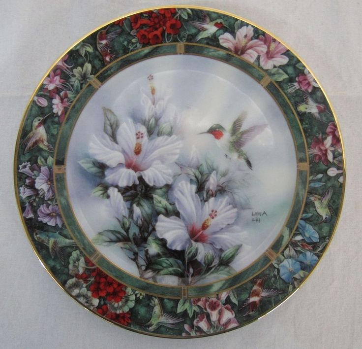 The Bradford Exchange Ruby Throated Hummingbird Plate by