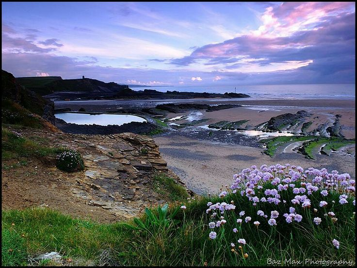 Middle Beach looking across to Sea Pool & Summerleaze Beach, Bude, North Cornwal. Photo by Baz McDonald.