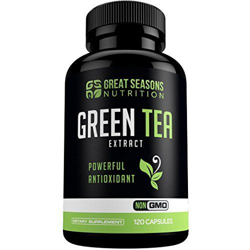 Green Tea Extract Supplement EGCG for Healthy Weight Loss 120 Capsules  Natural ...