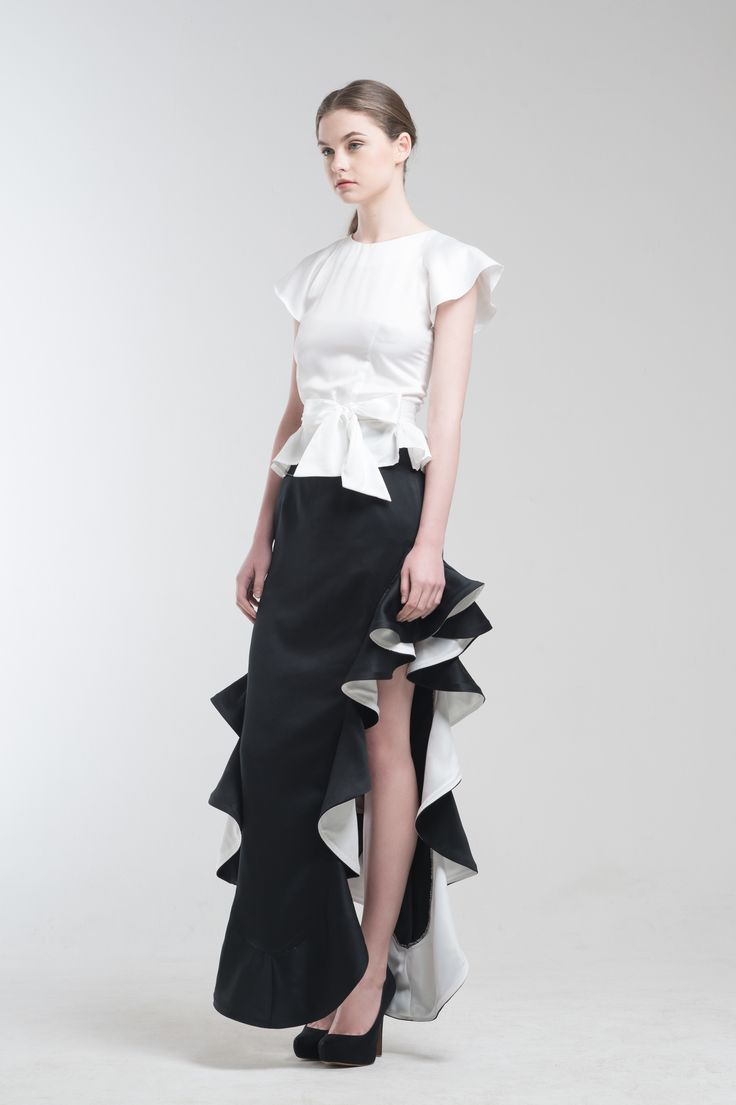 Niel Top in White and Ralph Mermaid Skirt from Jolie Clothing  #JolieClothing www.jolie-clothing.com  #Fashion #designer #jolie #Charity #foundation #World #vision #indonesia  #online #shop #stefanitan #fannytjandra #blogger