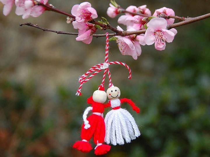 ''Martisor'' traditional romanian Spring Coming Celebration