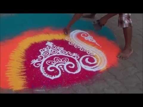 Art of making rangoli designs Beautiful Rangoli Design Latest Rangoli De...
