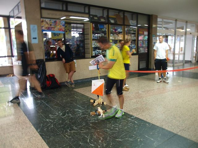 Indoor orienteering from the Faculty of Electronics and Computing, Zagreb, Croatia.