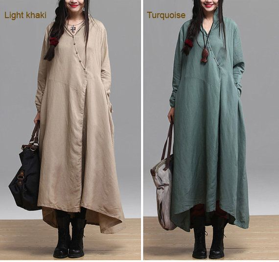 women linen loose cothing casual dresses springFree by B2C2, $118.00