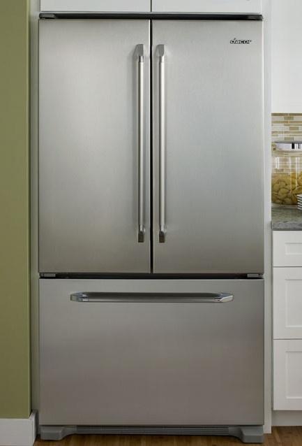 Dacor Renaissance Epicure 36 Inch CounterDepth BottomFreezer French Door  Refrigerator Tempered Glass SpillProof Shelves Gallon Door Storage