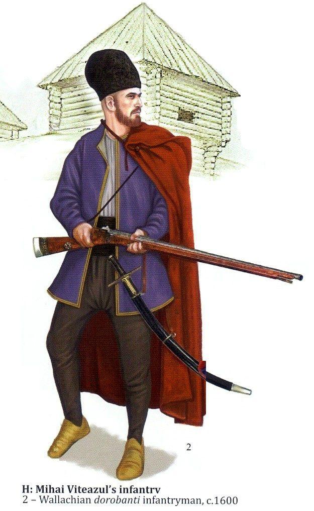 1600 c. Infante Valaco dorobanti Mihai Viteazul's infantry