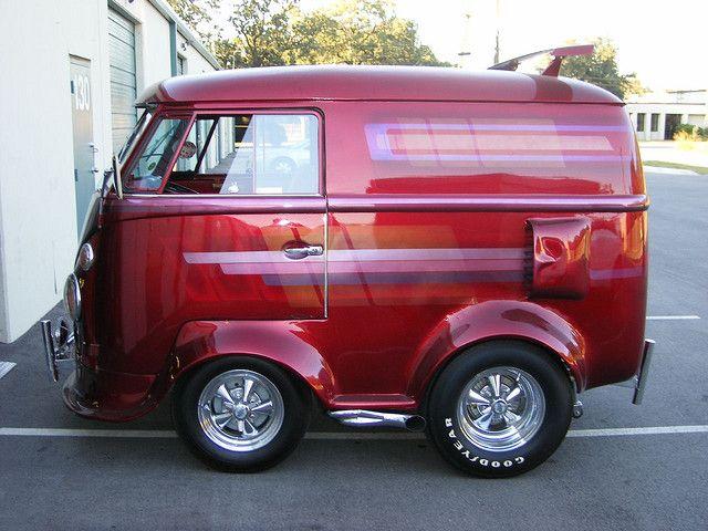 VW mini bus................. I've never got the purpose of shrinking a VW Van.