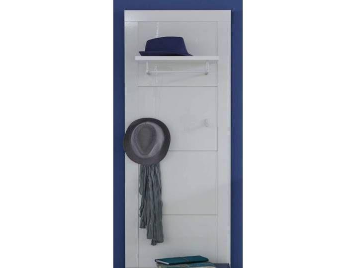 Wandgarderobe Garderobenpaneel Kito In Hochglanz Weiss 53 X 155 Cm