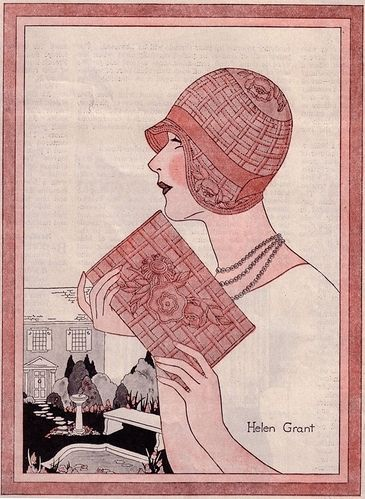 1920s, 1929, cloche, deco, fashion, fashion illustration - inspiring picture on Favim.com