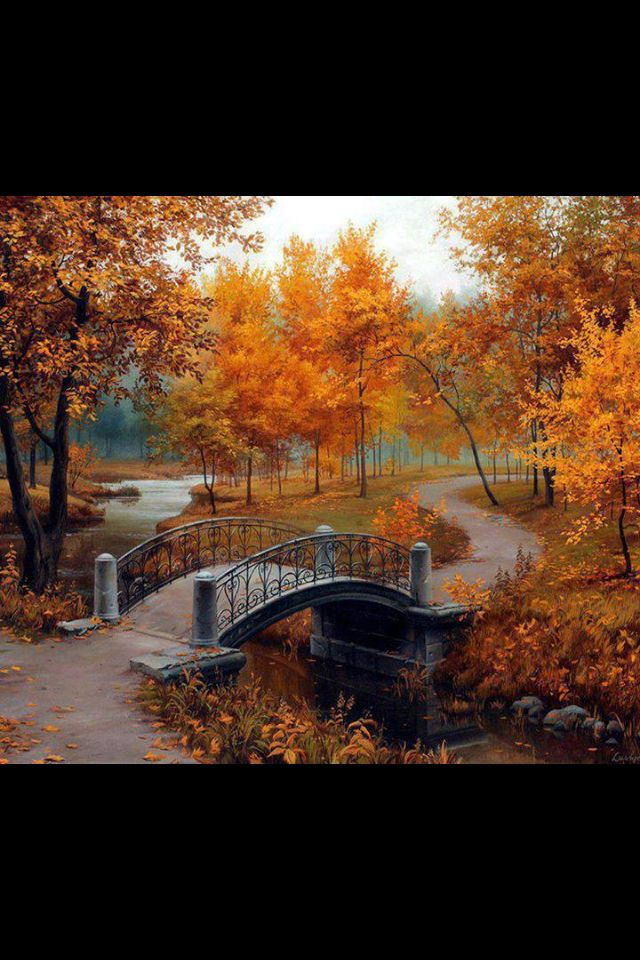 """Fall colors """" A walk in the park""""."""